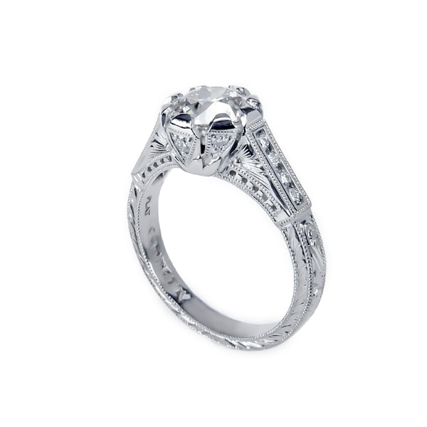 Tom Mathis Designs Platinum 1.52CT Diamond Engagement Ring Set