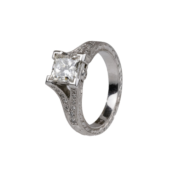 Tom Mathis Designs 1.18CT Diamond Engagement Ring