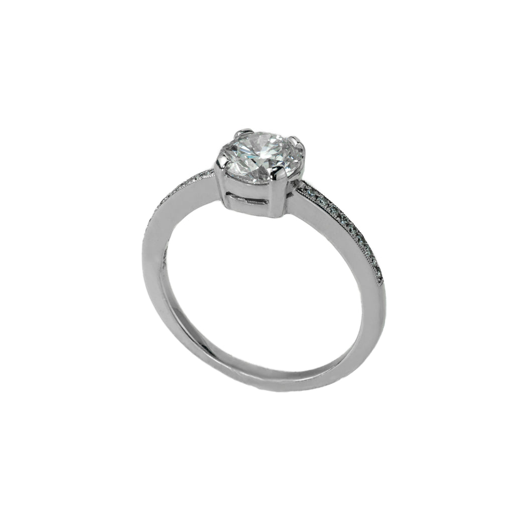 Tom Mathis Designs 1.01CT Diamond Engagement Ring