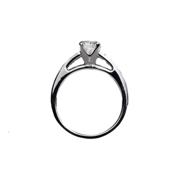 14K White Gold 1.01CT Diamond Engagement Ring