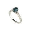 Tom Mathis Designs 1.01CT Sapphire & Diamond Engagement Ring