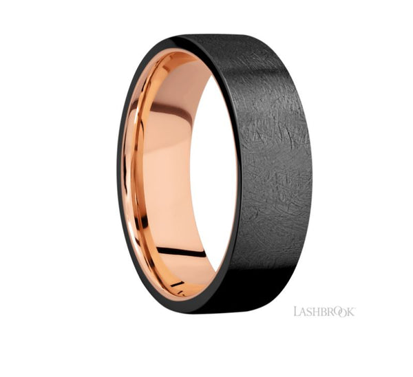 Lashbrook Designs Zirconium Wedding Band
