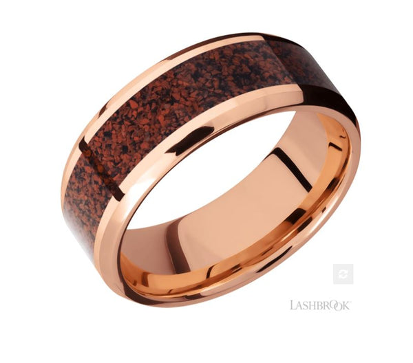 Lashbrook Designs 14K Rose Gold Wedding Band
