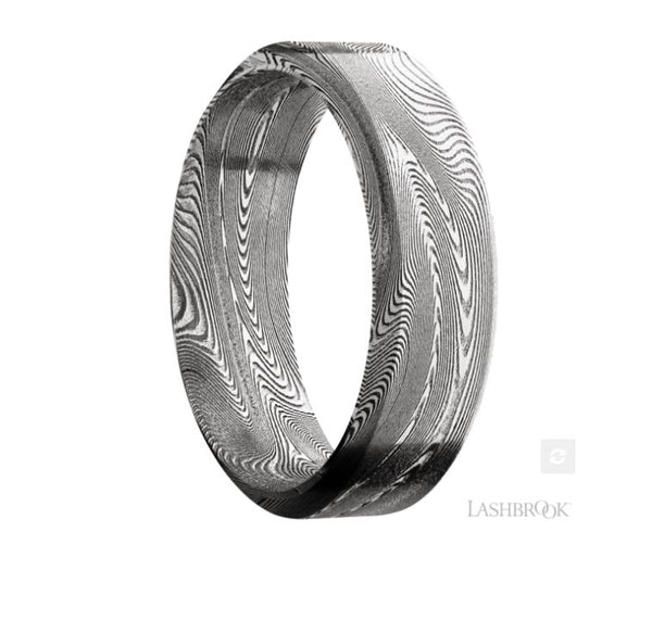 Lashbrook Designs Damascus Wedding Band