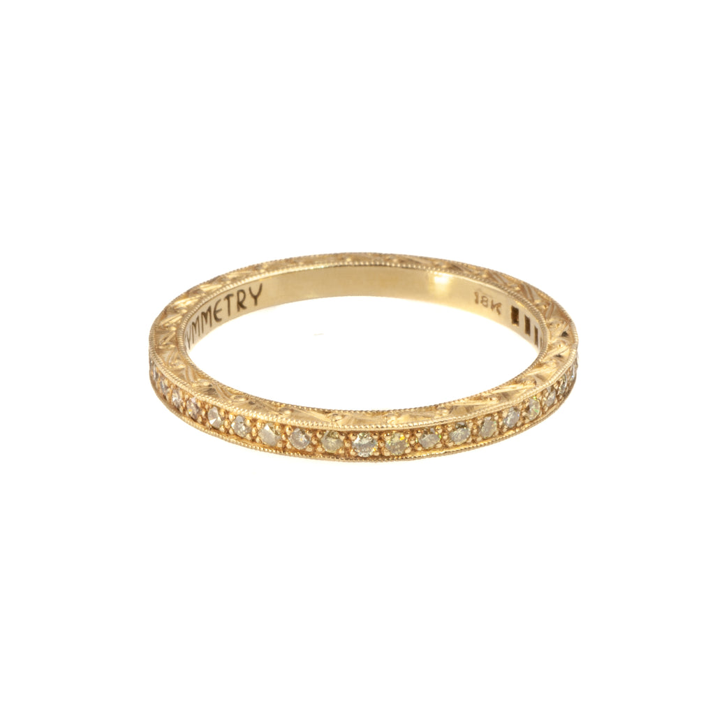 Tom Mathis 18K Yellow Gold, Fancy Yellow Diamond Band
