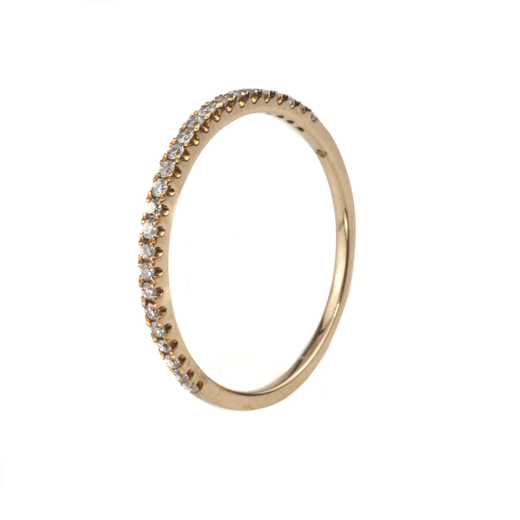 14K Yellow Gold .18 Ct. Diamond Stackable Band