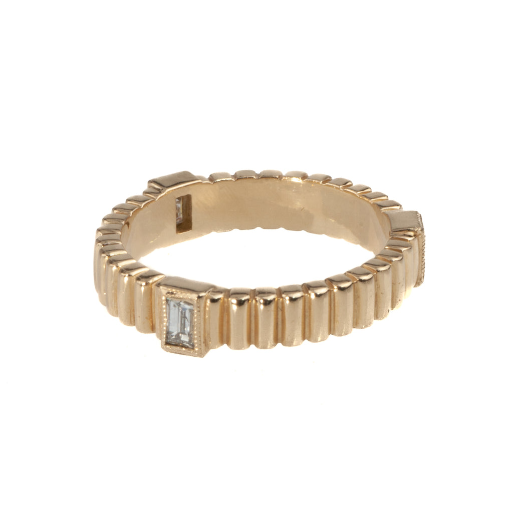 Tom Mathis 14K Yellow Gold .27 Ct. Diamond Stackable Band