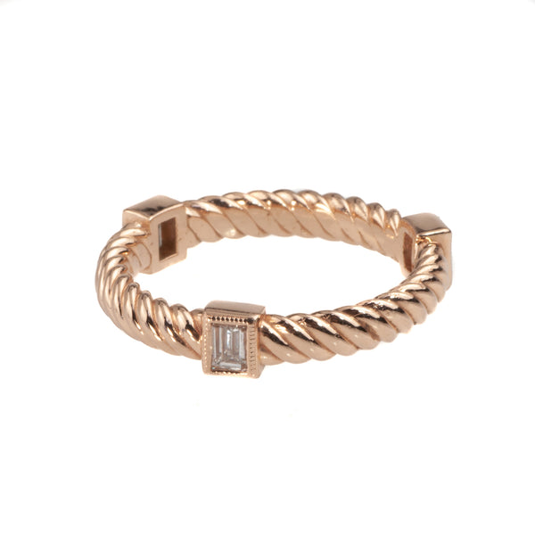 Tom Mathis 14K Rose Gold .27 Ct. Diamond Stackable Band
