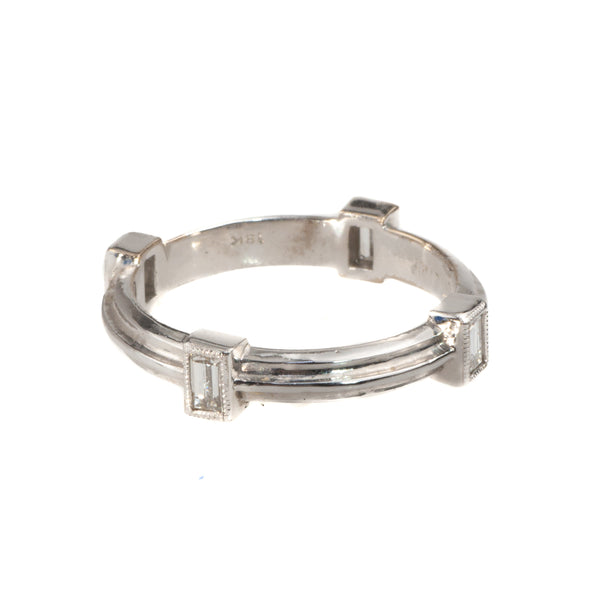 Tom Mathis 18K White Gold .36 Ct. Diamond Band