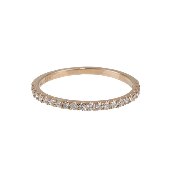 14K Yellow Gold Lab-Created Diamond Band