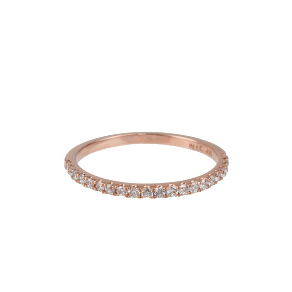 14K Rose Gold Lab-Created Diamond Band