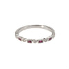 14K White Gold .16 Ct. Ruby & Diamond Stackable Shapes Band