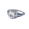 Estate Collection Art Deco Platinum Diamond & Sapphire Ring