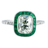 Estate Collection Diamond & Emerald Halo Ring