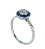 Estate Collection Diamond & Sapphire Halo Ring
