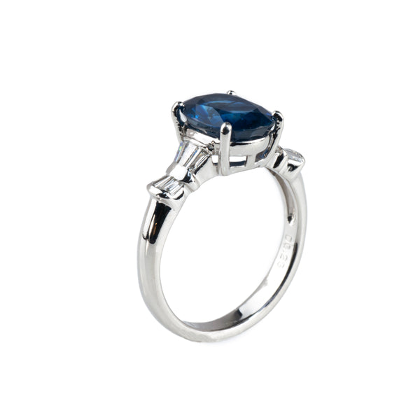 Estate Collection Sapphire & Diamond Engagement Ring