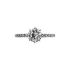 18K White Gold Vintage-Style Moissanite Ring