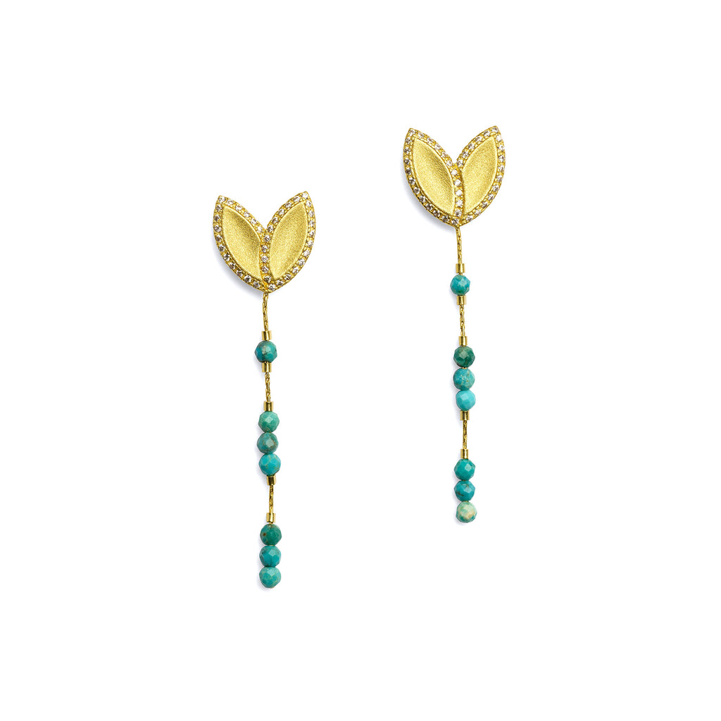 "Bernd Wolf Collection ""Navendi"" Turquoise Earrings"