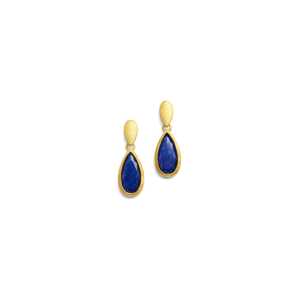 "Bernd Wolf Collection ""Venis"" Lapis Earrings"
