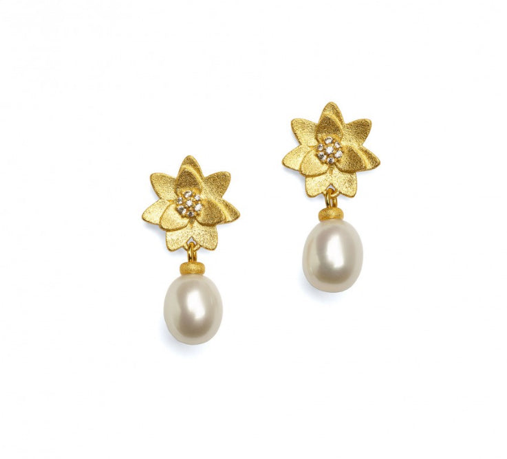 "Bernd Wolf Collection ""Hortensia"" Pearl Earrings"