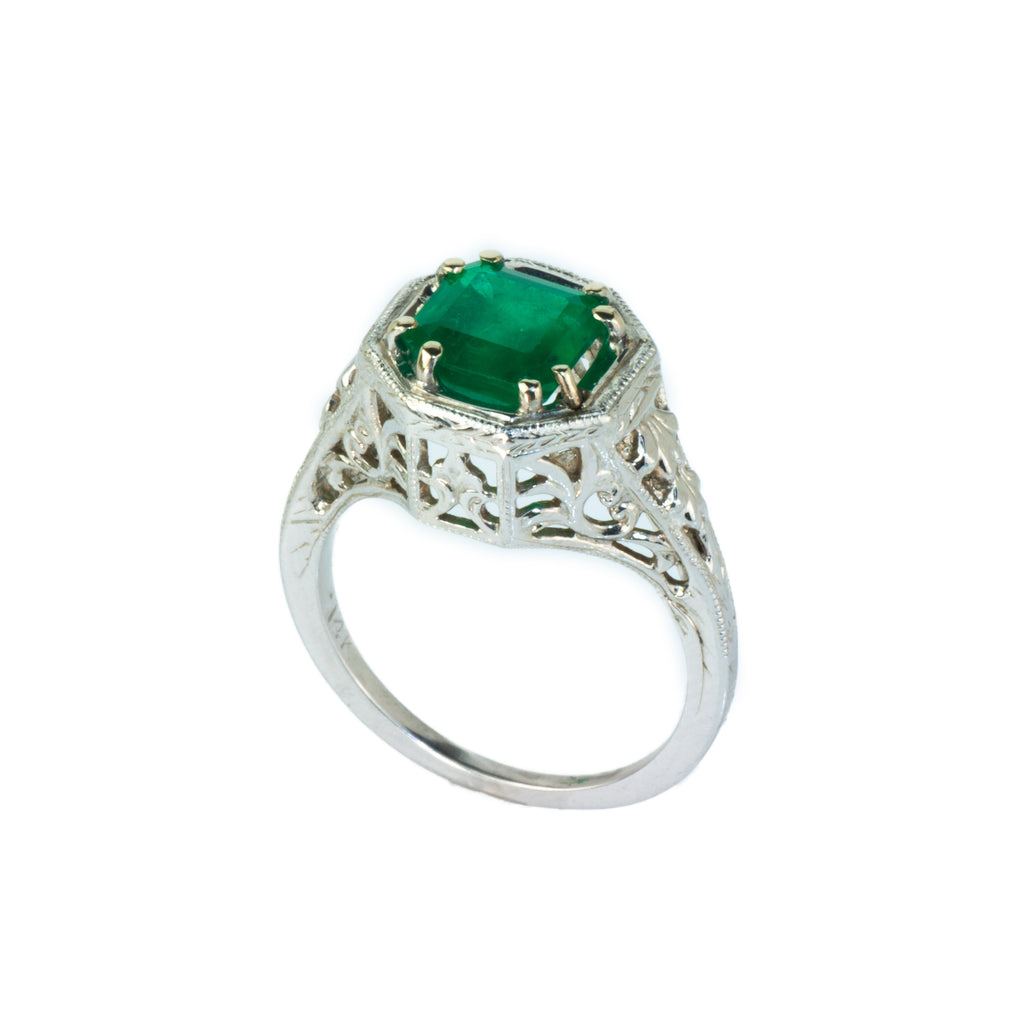 Estate Collection 1.34ct Emerald Ring