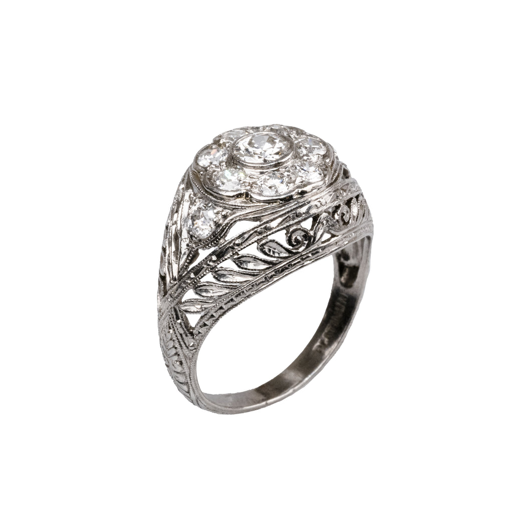 Estate Collection Platinum Diamond Ring