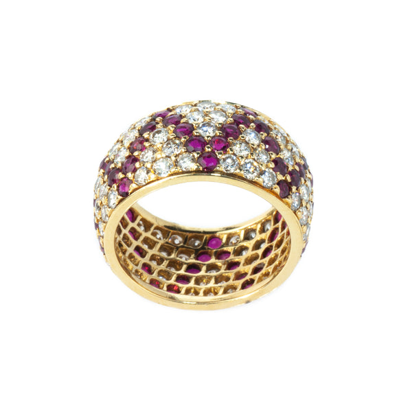 Estate Collection Diamond & Ruby Ring