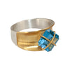 "Mysterium Collection 2-Tone Concave ""Gift Wrap"" Ring"