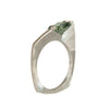 Mysterium Collection Asymmetrical Synthetic Green Spinel Ring