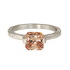 Mysterium Collection Tension Set Champagne Cubic Zirconia Ring