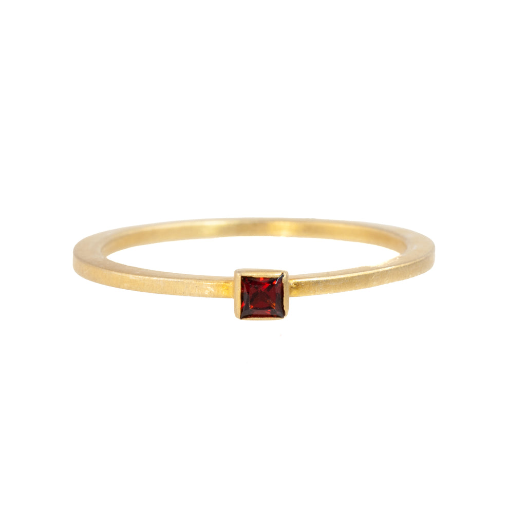 Tim Nelson Designs Gold-Plated Sterling Silver Garnet Ring