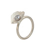 "Mysterium Collection ""Medium Petal"" Sterling & Pearl Ring"