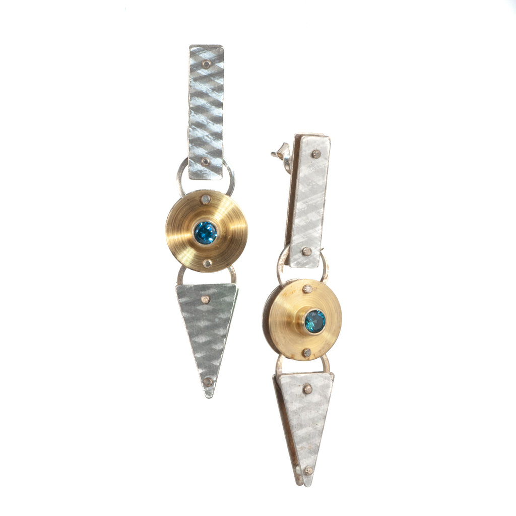 Mysterium Collection 2-Tone Synthetic Spinel Earrings