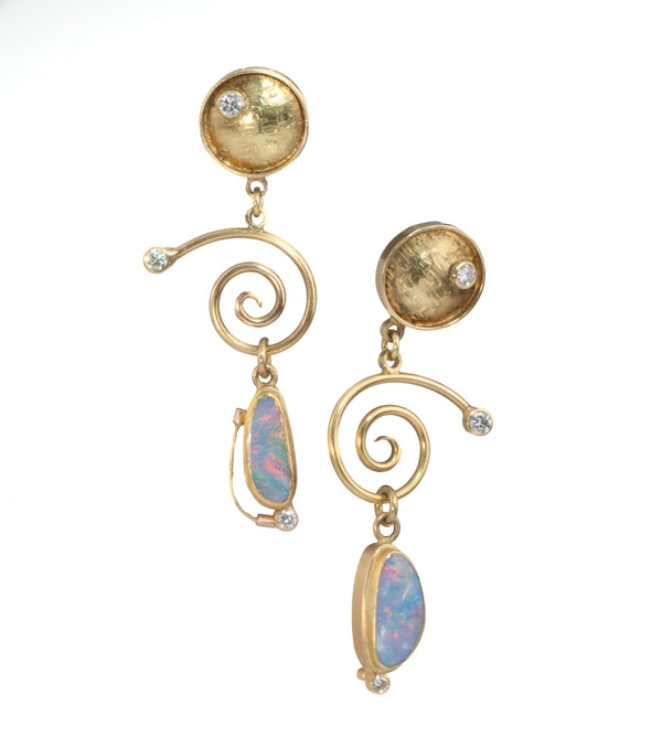 James Carter Opal and Diamond Earrings