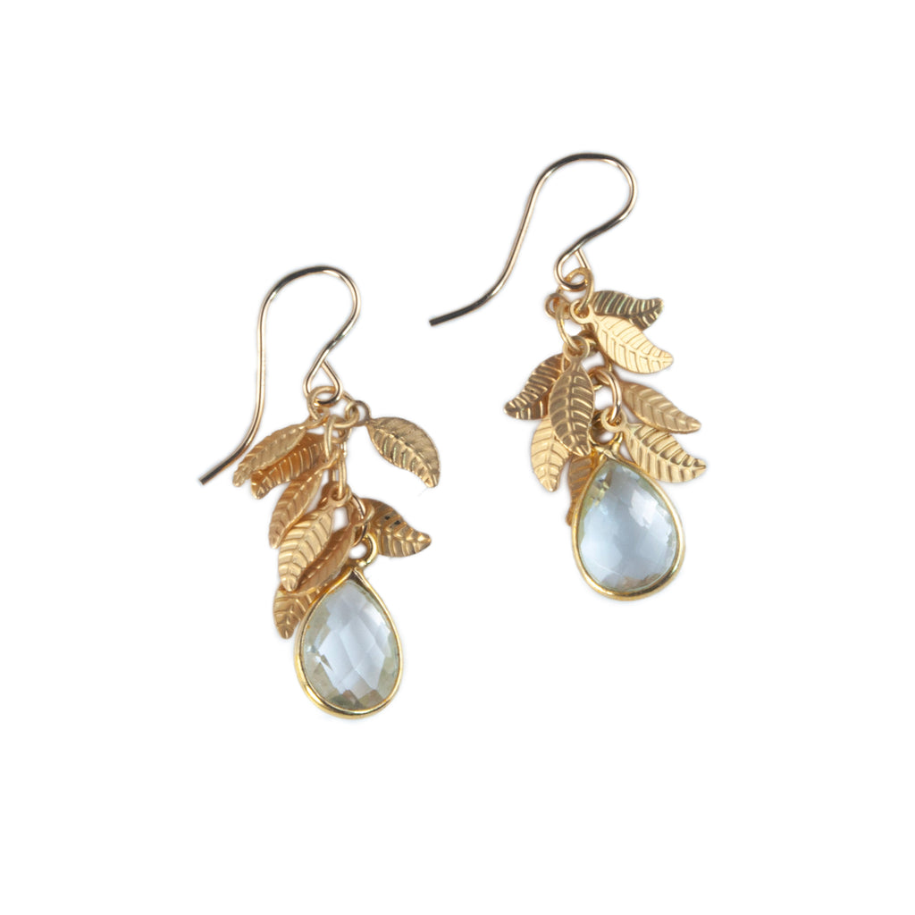 Anna Hollinger Collection Clear Quartz Earrings