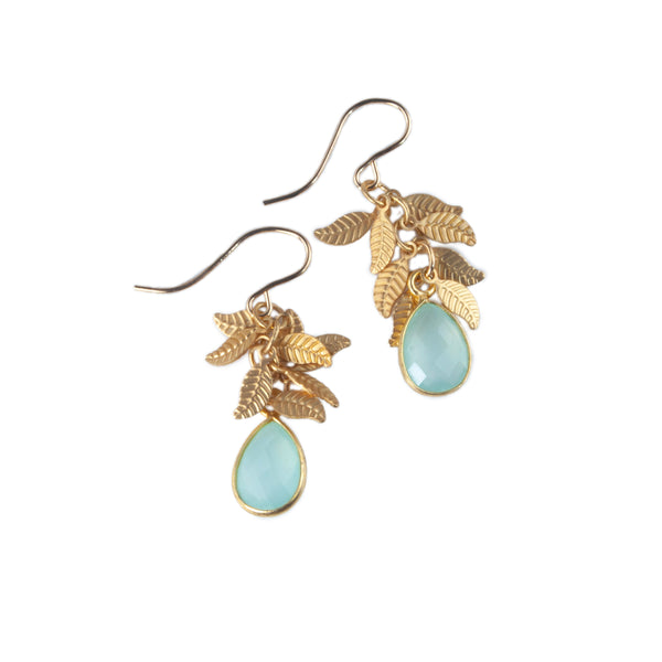 Anna Hollinger Collection Aqua Chalcedony Earrings
