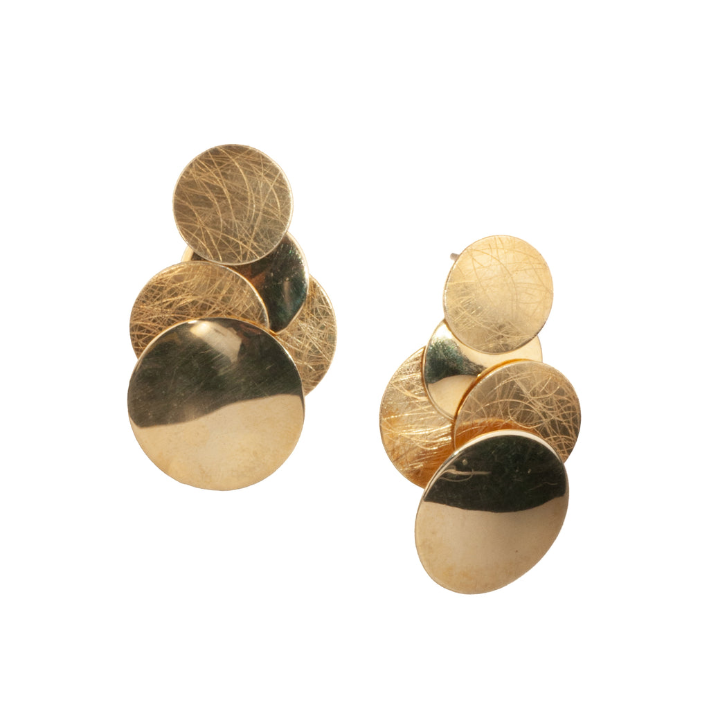 "Mysterium Collection ""5 Circles"" Vermeil Earrings"
