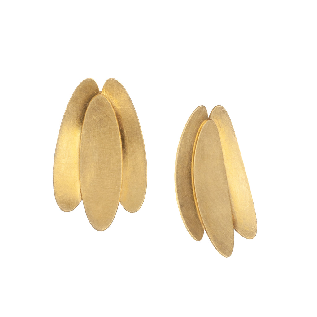 "Mysterium Collection ""Triple Petal"" Clip-On Earrings"