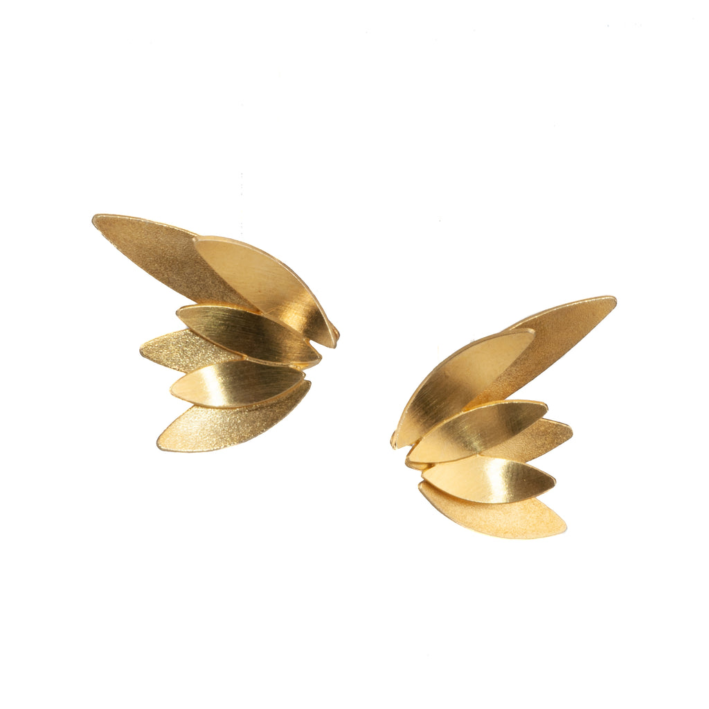 "Mysterium Collection Double ""Angel Wings"" Earrings (Med)"
