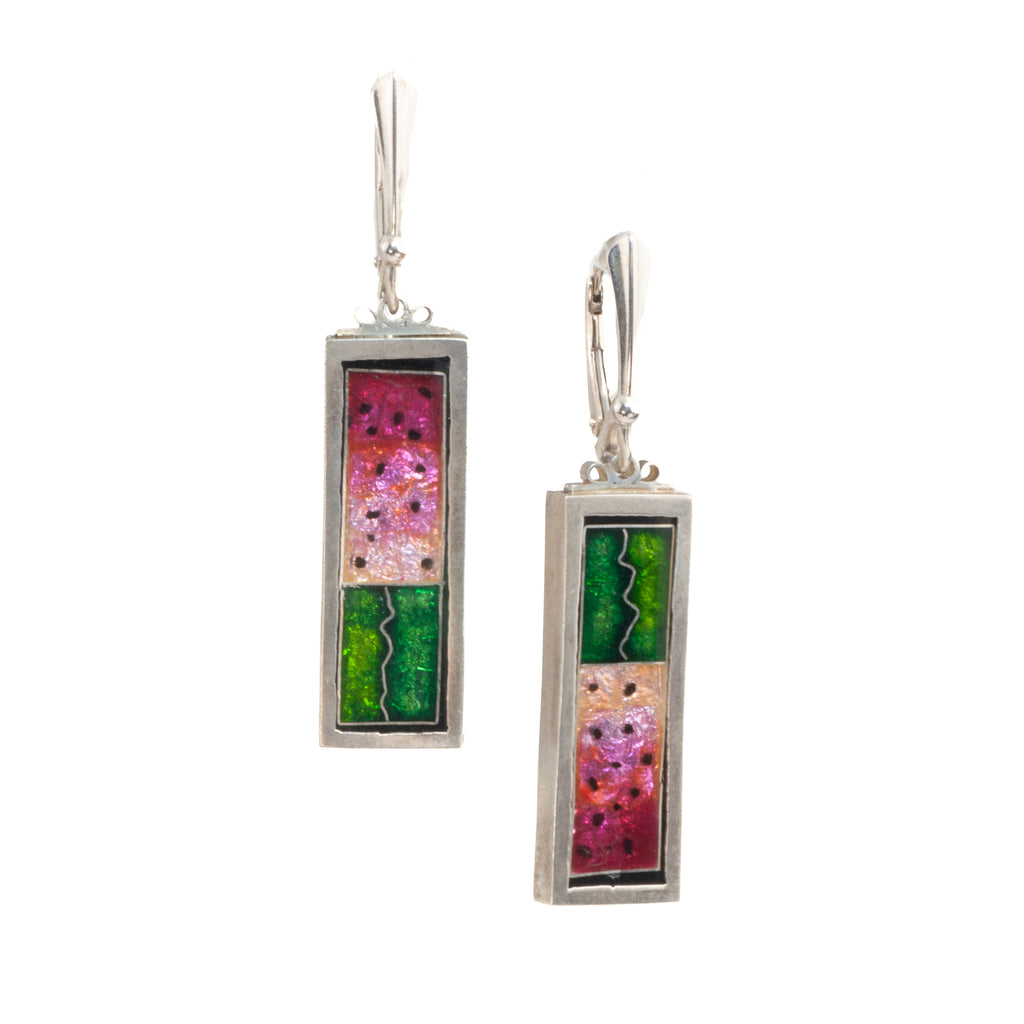 James Carter Watermelon Enamel Earrings