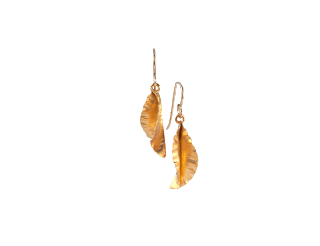 Vitrice McMurry Hammered Leaf Earrings (Small)