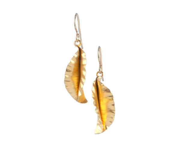 Vitrice McMurry Hammered Leaf Earrings (Large)