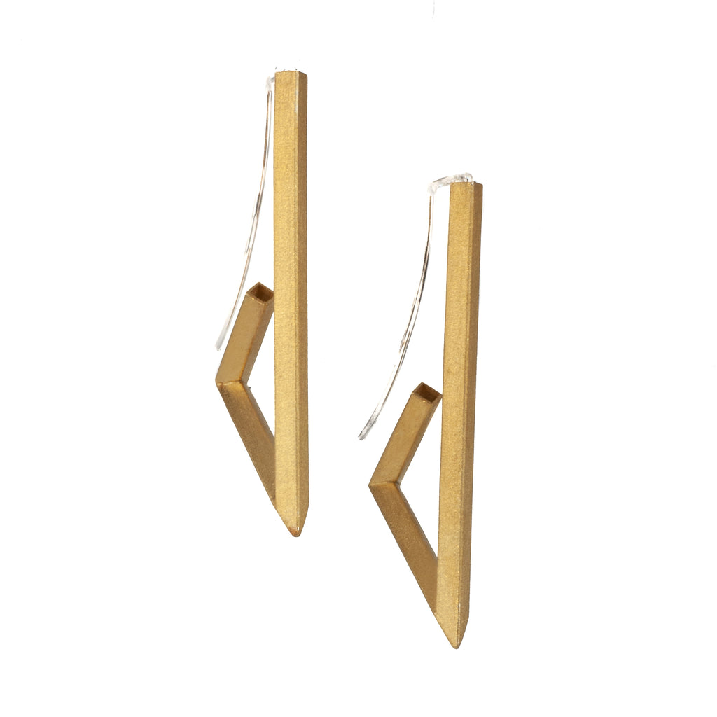"Mysterium Collection ""J"" Shape Vermeil Earrings"