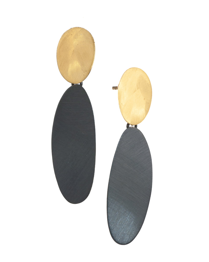 Mysterium Collection Double Oval Earrings