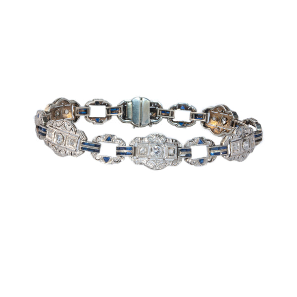 Estate Collection Antique Diamond & Sapphire Bracelet