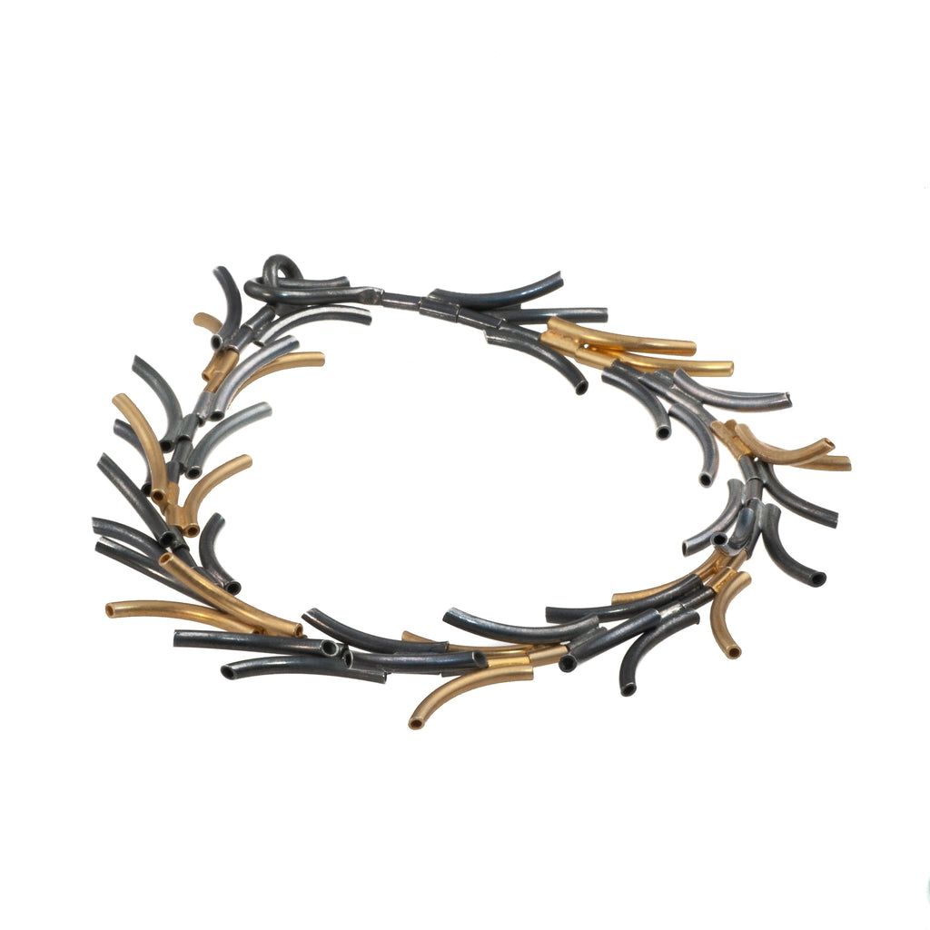"Mysterium Collection Black & Gold ""Needles"" Bracelet"