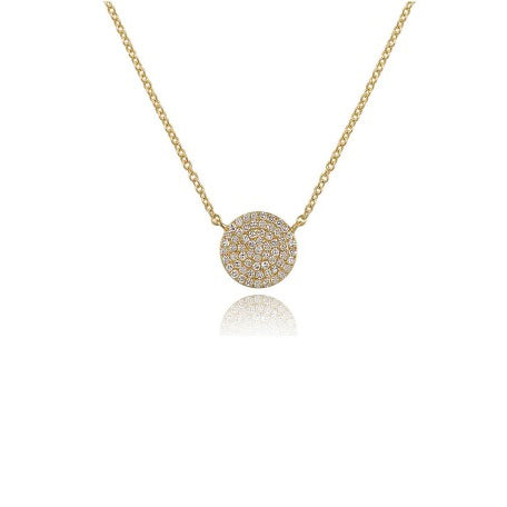 Majolie Collection Yellow Gold Diamond Pave Necklace (Lg)