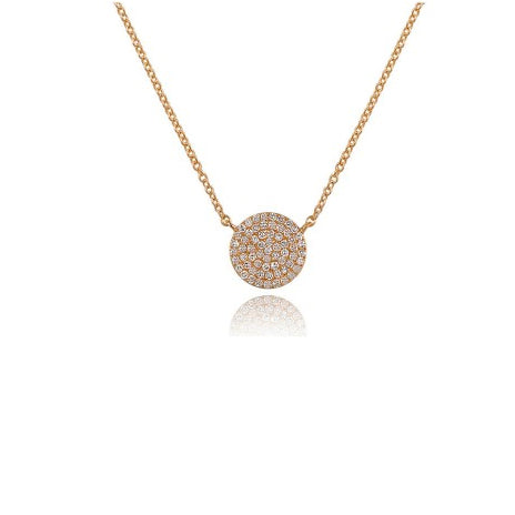 Majolie Collection Rose Gold Diamond Pave Necklace (Lg)