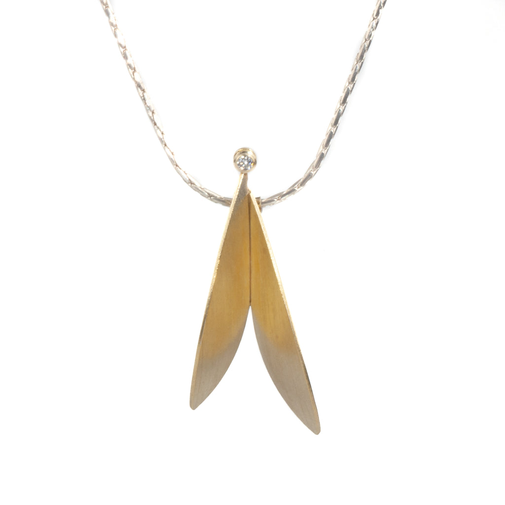 "Mysterium Collection 2-Tone ""Summer Wings"" Necklace"