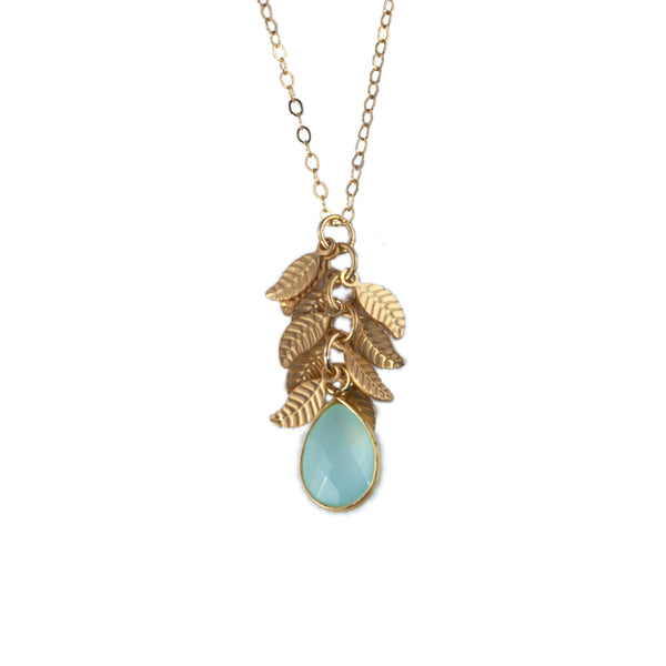 Anna Hollinger Collection Aqua Chalcedony Pendant